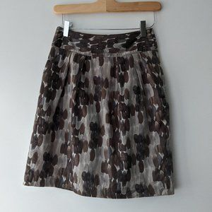 RW&CO. Cotton Lined Skirt Grey Watercolour Size 0